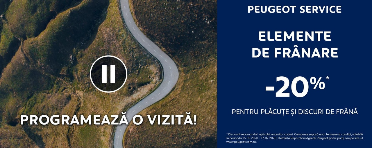 Promotie elemente franare Peugeot - 2020