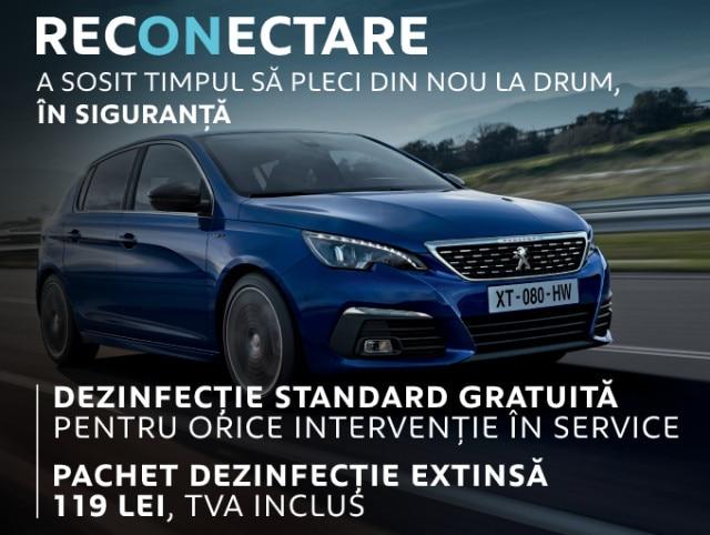 Peugeot Romania - oferta dezinfectare masina, Iunie 2020