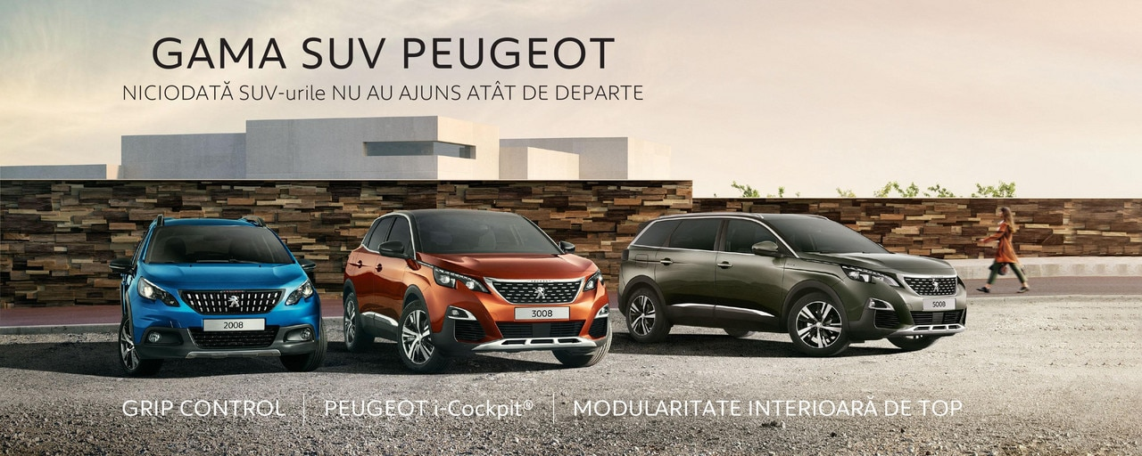 Gama SUV Peugeot - Campanie toamna 2019