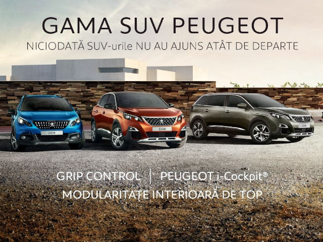 Gama SUV Peugeot - Campanie toamna 2019, mobile