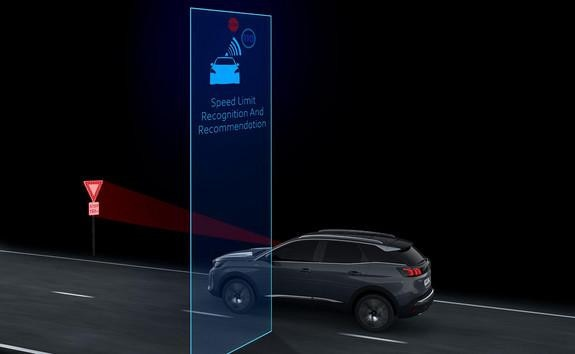 Noul Peugeot 3008 - Speed limit sign recognition and recommendation