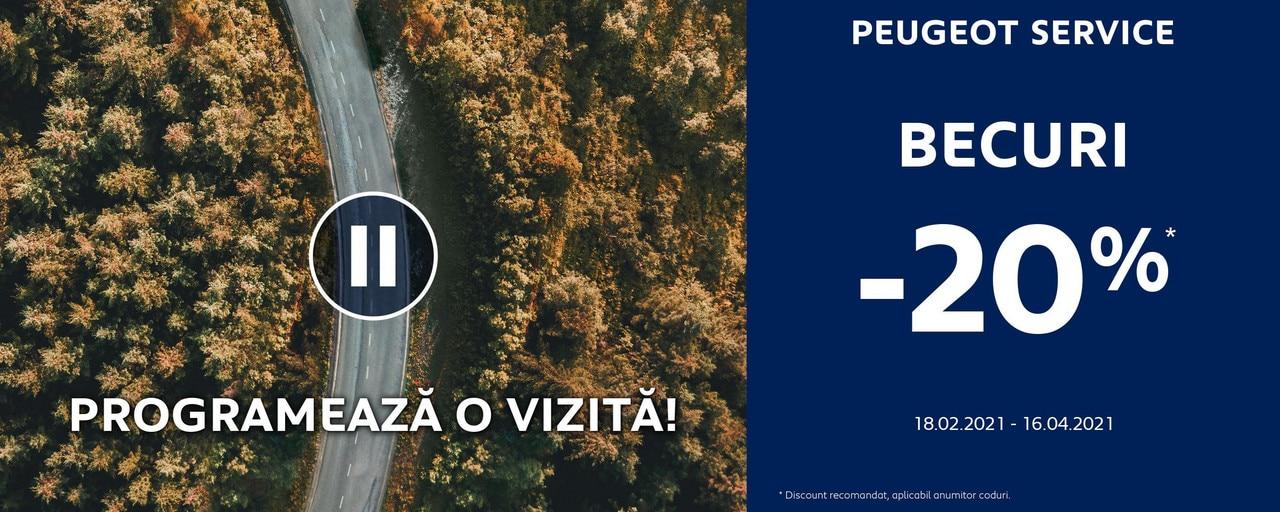 Peugeot - Promotii Becuri 2021