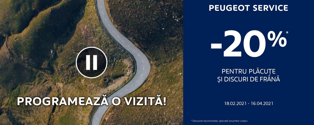 Peugeot - Promotii Franare 2021