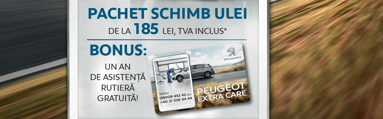 Pachet schimb ulei Service Peugeot